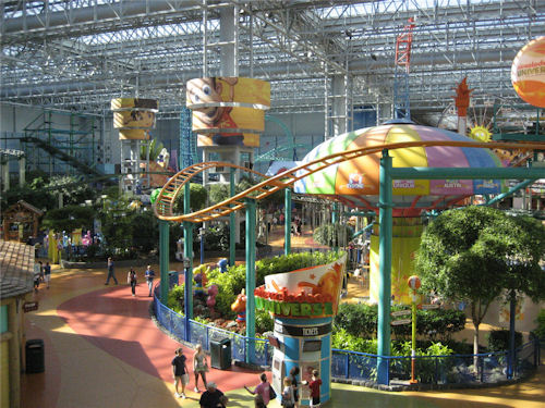 Does YOUR mall have an amusement park?