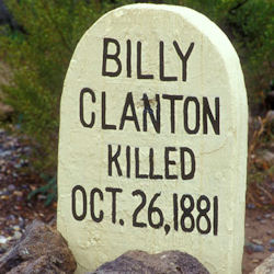 Look! A tombstone in Tombstone.